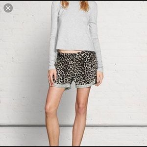 Rag & Bone Snow Leopard Shorts size 28